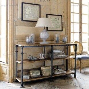 Us 16776 Amerikaanse Export Naar Frankrijk Chesterton Houten Bijzettafel Console Tafel Drie Lagen Metalen Frame Tv Kast Boekenkast In Amerikaanse