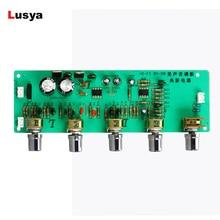 Ac 12 v 15 v placa de pré amplificador áudio an4558 baixo midrange agudos equilíbrio tom preamp board preamplificador para alta fidelidade amp B3 003