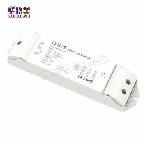 TD 36 24 E1P1; 100 240V AC input,Output 36W 24VDC 1.5A constant voltage CV Triac Dimmable intelligent LED Driver Triac Push Dim