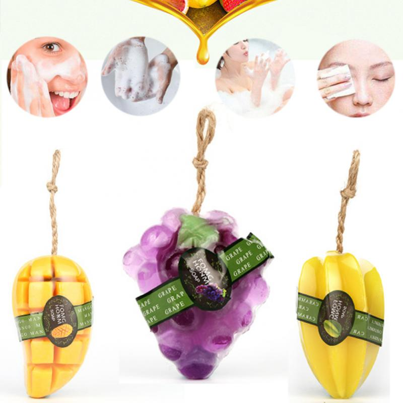 Creative Handmad Fruit Shaped Soap Health Essential Oil Unique Smell Body Face Spa Stylish Gift 5 Types For Option #