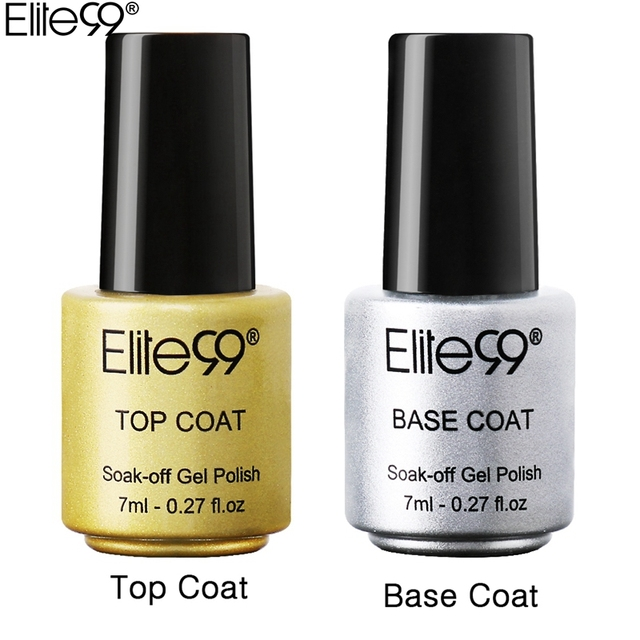Elite99 Gel Lack Set 7 ml Basis Mantel + 7 ml Top Coat Stiftung Für UV Gel Nagellack Tränken off UV LED Gel Nagellack