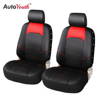 AUTOYOUTH Car Seat Cover PU Leather Universal Automobiles Front Seat Covers Car Accessories For Seat Protector