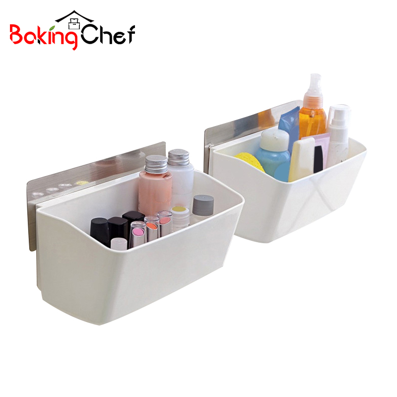 BAKINGCHEF PC Fashion Desktop Snacks Storage Box Wall Portable Holder Container Home Organizer Accessories Supplies Gear Stuff ...