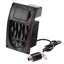 5-Band Acoustic Classic Guitar Preamp EQ Equalizer Piezo Pickup Amplifier Guitar Accessories Guitar Parts acoustic 5 band eq equalizer guitar preamp piezo pickup lcd tuner
