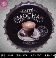 40 cm MOKKA Koffie Bierfles Cap Vintage Interieur Tin Teken Bar Muur Decor Metalen Teken 3D Muur Decor Metalen Plaque Metalen Poster