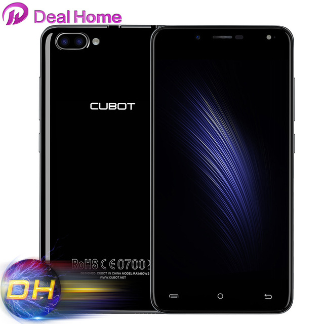 "Original Cubot Rainbow 2 Dual Back Camera 1GB RAM 16GB ROM MTK6580A Quad Core 5.0"" HD 13.0MP 3G WCDMA Mobile Phones"