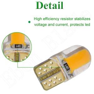 Image 5 - 2/4 Uds., luz Led para coche T10 W5W 12V 194 168 2825, bombillas de luces de silicona Cob, Bombilla Interior para coche, ámbar, amarillo, naranja, rojo, blanco