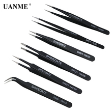 UANME 6Pcs SWDT Precision Anti Static Tweezers Stainless Steel Set For BGA Work Repair Tool
