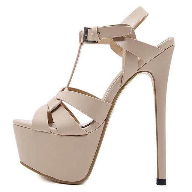 Sandálias bege 2020 tornozelo cinta sandálias de verão botas de salto alto das mulheres salto alto cinta fina saltos femininos causal sandálias yma120
