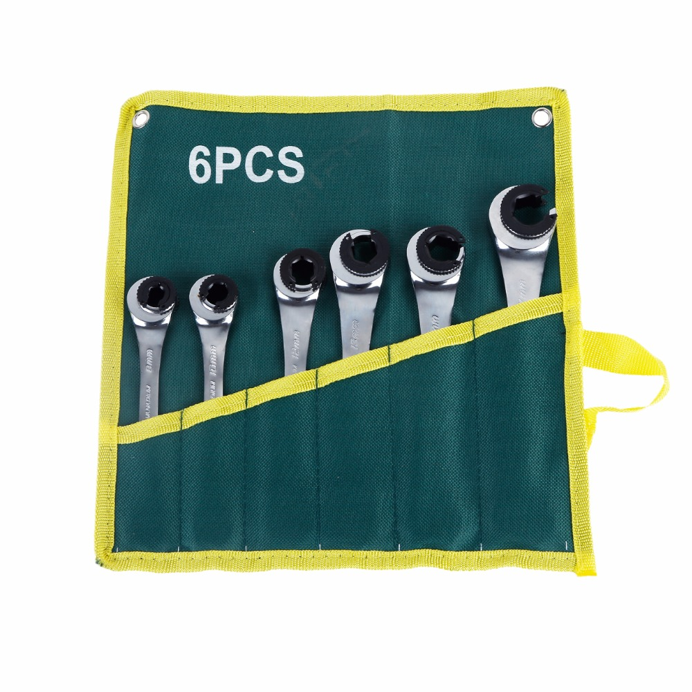 6 Pieces 8-17MM Tool Oil Filter Belt Wrench Ratchet Nut Wrench 72 Tooth Chrome Vanadium Wrench Multi-Function Conversion Wrench6 Pieces 8-17MM Tool Oil Filter Belt Wrench Ratchet Nut Wrench 72 Tooth Chrome Vanadium Wrench Multi-Function Conversion Wrench