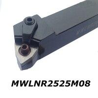 External Turning Tool Holder MWLNR2525M08 Tungsten Carbide Insert Cnc Tool Shank Left Hand Holder For Insert