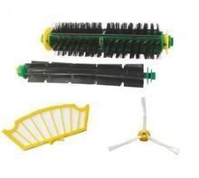 (4 pcs/lot) 1set Brush kit + fiter For iRobot Roomba 500 530 560 510 550 570 580 610 etc.Vacuum Cleaner Accessories replacement