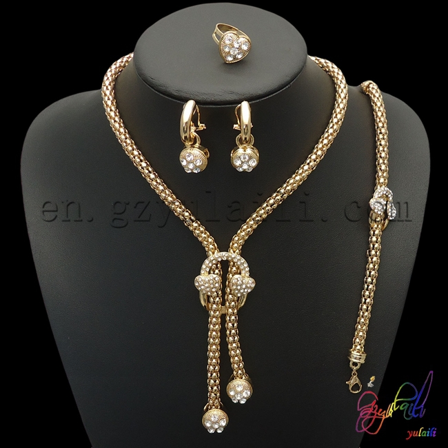 Free shipping gold plated jewelry sets italian gold jewelry sets