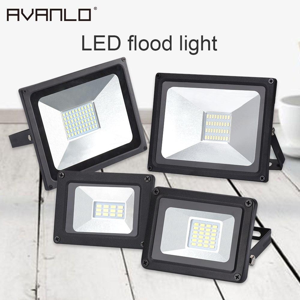 Venta caliente IP65 10 W 20 W 30 W 50 W Luz de inundación Led SMD 5730 Led lámpara de inundación Reflector Led Reflector al aire libre de la iluminación de la calle