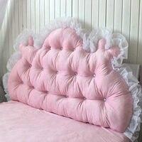 Модные корейские короткие плюшевые большая голова кровать подушки Роскошные Алмаз Двойной ded S с core Свадебные украшения Спальня текс