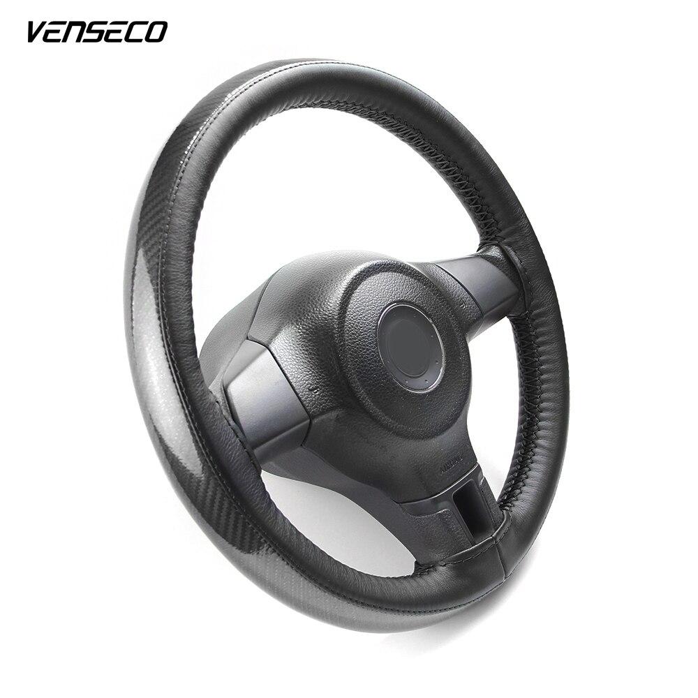 VENSECO universal steering cover carbon fiber sewing steering wheel cover braided steering wheel DIY steering-wheel fit for 38cm