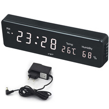 Big Number Large LCD Digital Wall Clock Electronic Table Watch Desk Clock with Temperature Calendar Bedside Nixie Wall mural