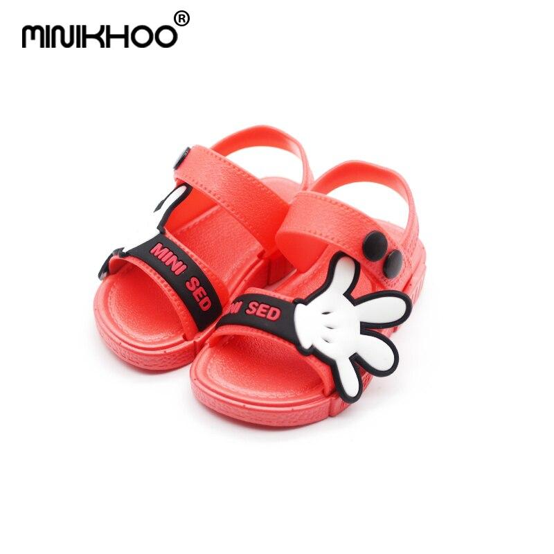Mini Melissa 2018 Cute Mickey Palm Boys Sandals Girls Jelly Sandals Non-slip Child MINI Sandals 12cm-17cm High Quality Melissa
