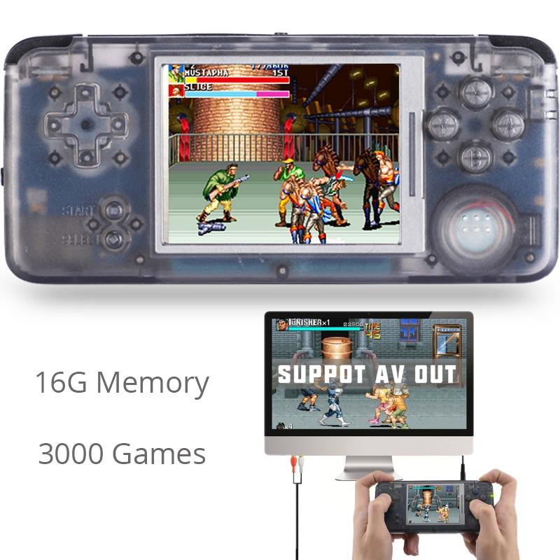 Lecteur de Console de jeu Portable rétro 16G mémoire Portable 3.0 pouces grand écran Console de jeu vidéo pour TV Support MP3 eBook