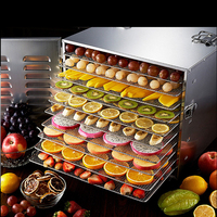 10 Layer Household Dried Fruit Machine Stainless Steel Fruits And Vegetables Dehydration Food Dryer Machine 220V