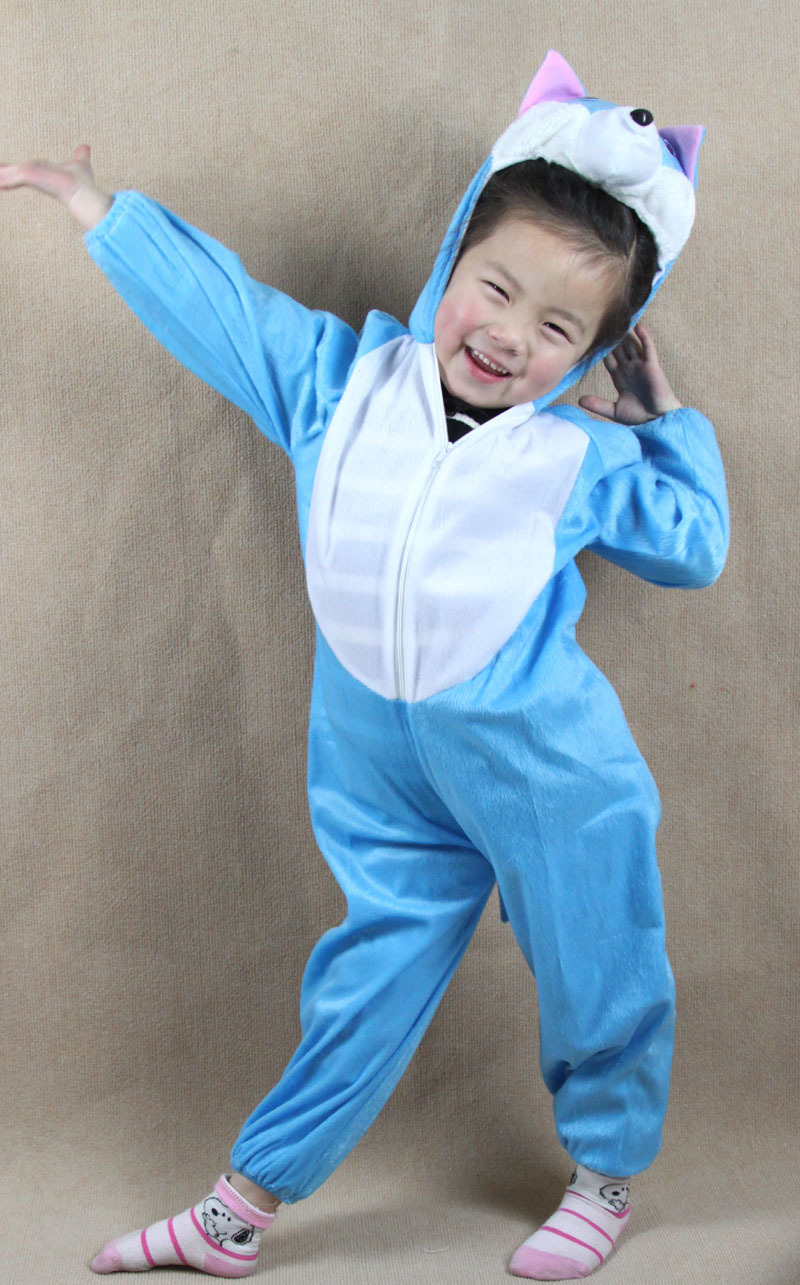 Uşaqlar Uşaqlar Oğlan Qızlar Cizgi Heyvanlar Palto Geyimləri - Karnaval kostyumlar - Fotoqrafiya 2