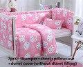 ¡ Promoción! 6/7 UNIDS Hello Kitty kit cuna 100% de algodón del verano del bebé juego de cama 100% algodón del lecho del bebé, 120*60/120*70 cm