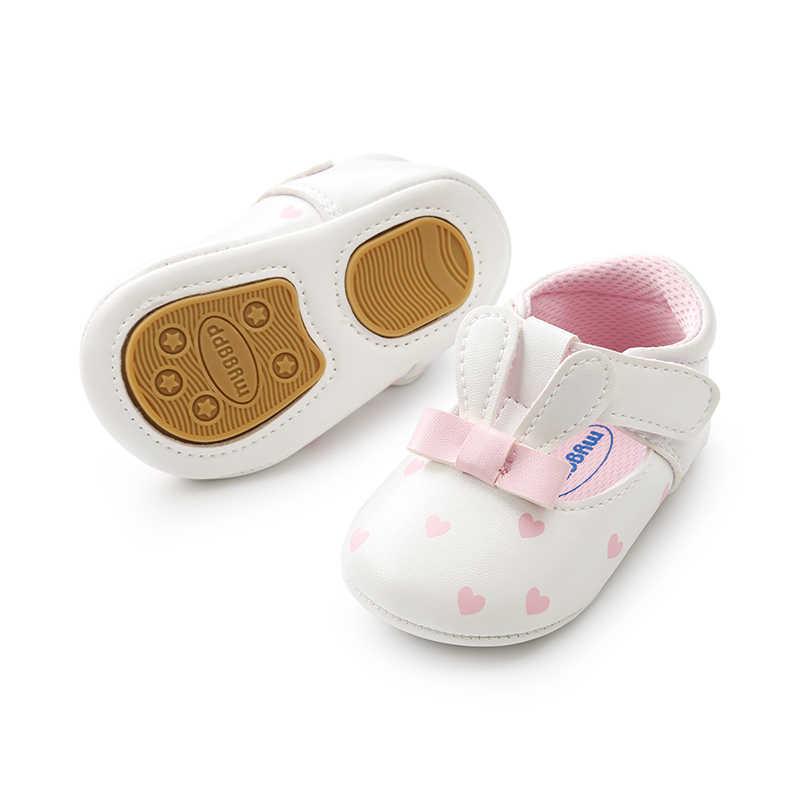 7ec5f003da059 Newborn Cute Rabbit Princess Shoes Leather Butterfly-knot Casual Summer  Prewalkers Soft Sole Baby Sandals