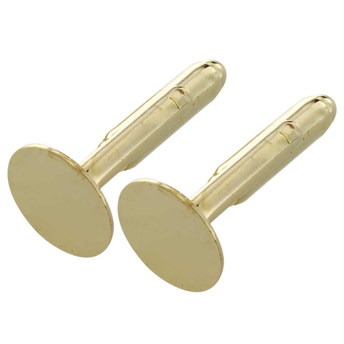 """10 золотых запонки заготовки запонок 0,71x0,47"""""""