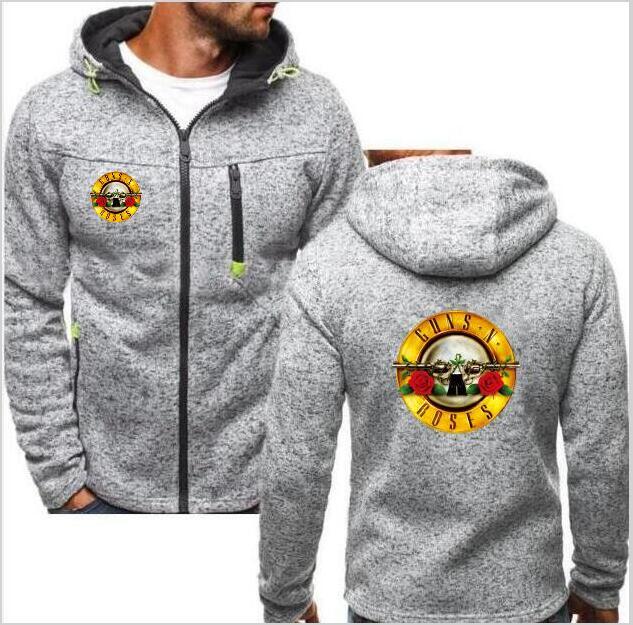 Men's Clothing Devoted 2019 Fashion Brand Top Guns N Roses Hoodie Long Sleeve Warm Riverdale Hooded Zipper Shirt Casual Mens Sweatshirt