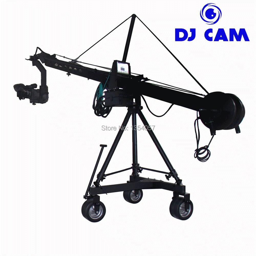 Caméra de diffusion 8 M jimmy jib grue à vendre avec tête motorisée hollandaise chargement 25 kg professionnel Jimmy grue Jib