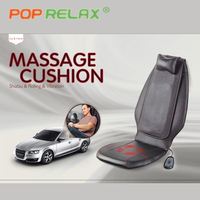 POP RELAX DC12V Car home use massage cushion electric heating shiatsu mobile rolling vibrating back massager massage seat pillow