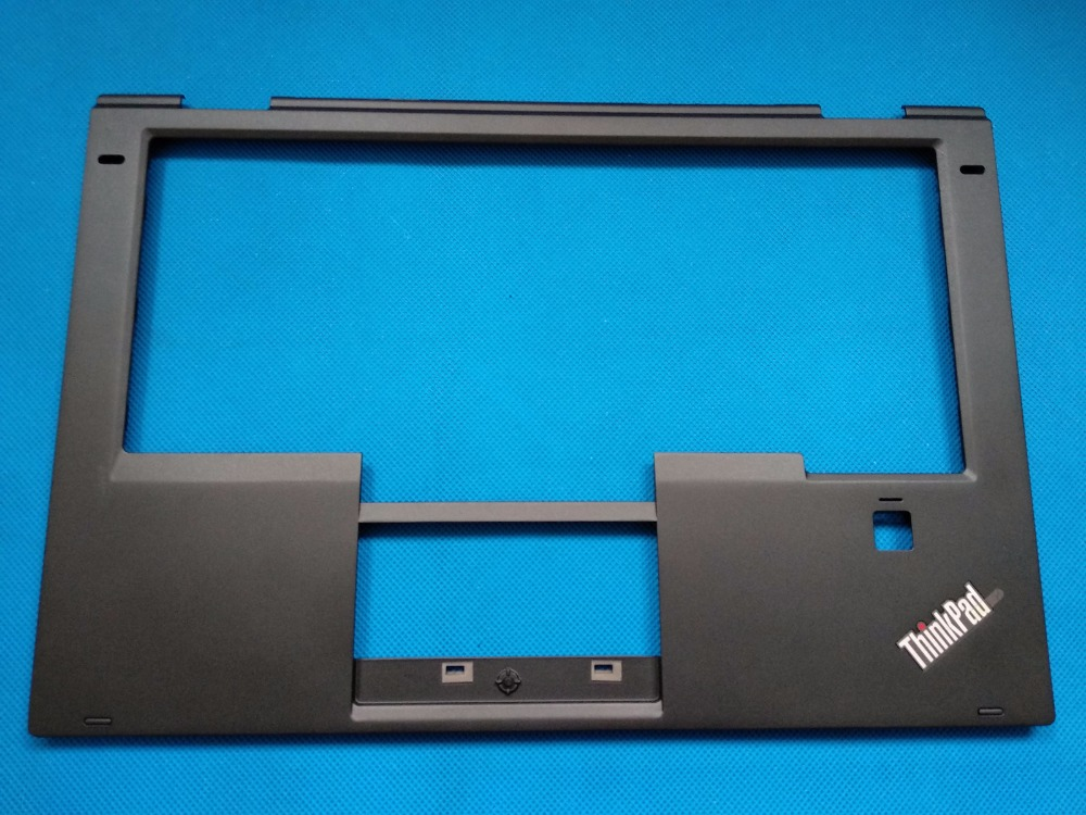 New Original for Lenovo ThinkPad X1 Yoga Palmrest Keyboard Bezel Cover with Fingerprint Hole 460.04P02.0004 SB30K59264 00JT863 new original for lenovo yoga 3 14 us cz ru po english keyboard palmrest bezel upper case cover black