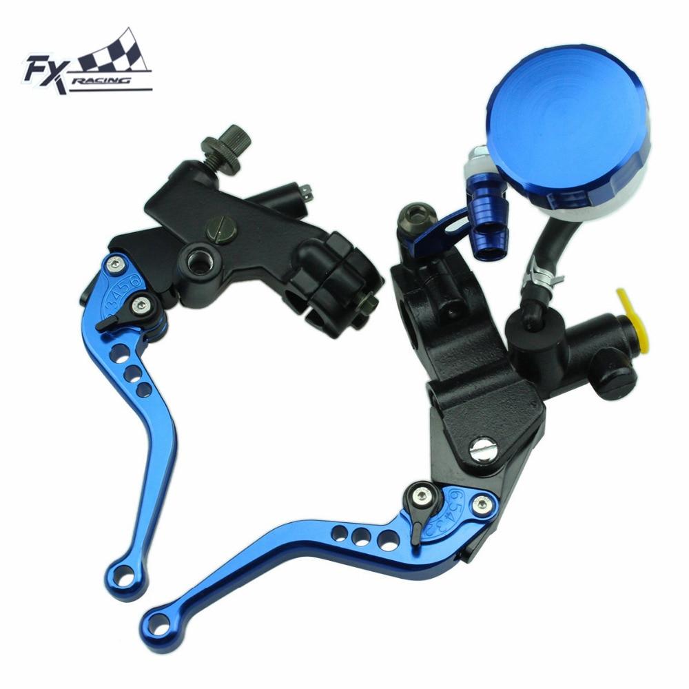 7/8 For Yamaha FZ6R XJ6 DIVERSION 2009 - 2015 2010 Motorcycle Master Cylinder Reservoir Brake Clutch Lever Hydraulic Brake