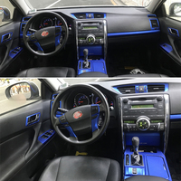 For Toyota Mark x Reiz 2005 2009 Interior Central Control Panel Door Handle Carbon Fiber Stickers Decals Car styling Accessorie