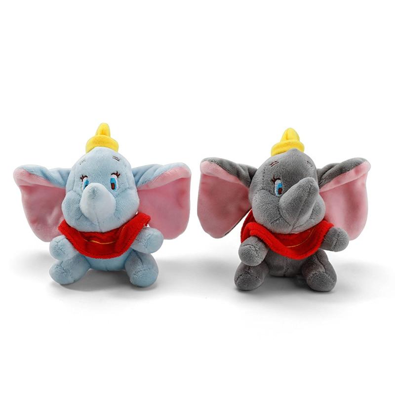 12cm Cute Dumbo Stuffed Animal Plush Toys Small Pendant Lovely Peluche Cartoon Elephant Doll Presents For Children Key Chain