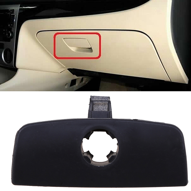 POSSBAY Auto Handschuh Box Abdeckung Griff Lock Loch für VW Passat B5 Schwarz Handschuh Box Latch Griff Keyhole Sperren Innen ersatz