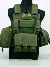Tactical Vest CS Wargame Airsoft Paintball MOLLE CIRAS Combat Vest CIRAS Tactical Vest With Triple Magazine