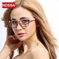 NOSSA Marca de Moda Leopardo Óculos De Acetato de Vidros Ópticos das Mulheres Armações de Óculos de Miopia Quadro Feminino Óculos de Lente Clara