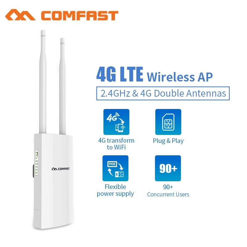 Уличная точка доступа 4G Lte, беспроводная точка доступа, слот для Sim-карты, Wi-Fi роутер, порт WAN/LAN, 4G Lte + 2,4 ГГц, базовая станция доступа