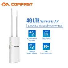 цена на Outdoor Access Point 4G Lte Wireless AP Sim Card Slot Wifi Router WAN/LAN Port 4G Lte+2.4Ghz WIFI coverage Base Station AP