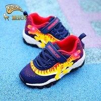 DINOSKULLS Boy Sneakers dinosaur T rex Boy Led with Light Up Kids Shoes for boy spring new Mesh Breathable tenis infantil 27 34