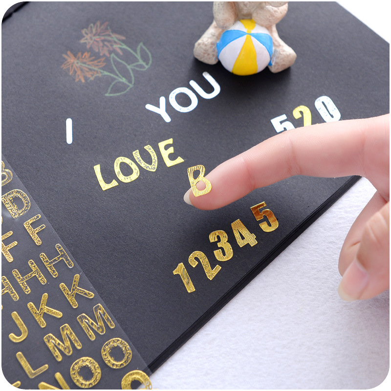Methodical 6 Pcs/lot Twinkle Sticker Gold Silver Number Handwriting Alphabet Stickers For Album Diary Scrapbooking Diy Stationery Selected Material Office & School Supplies