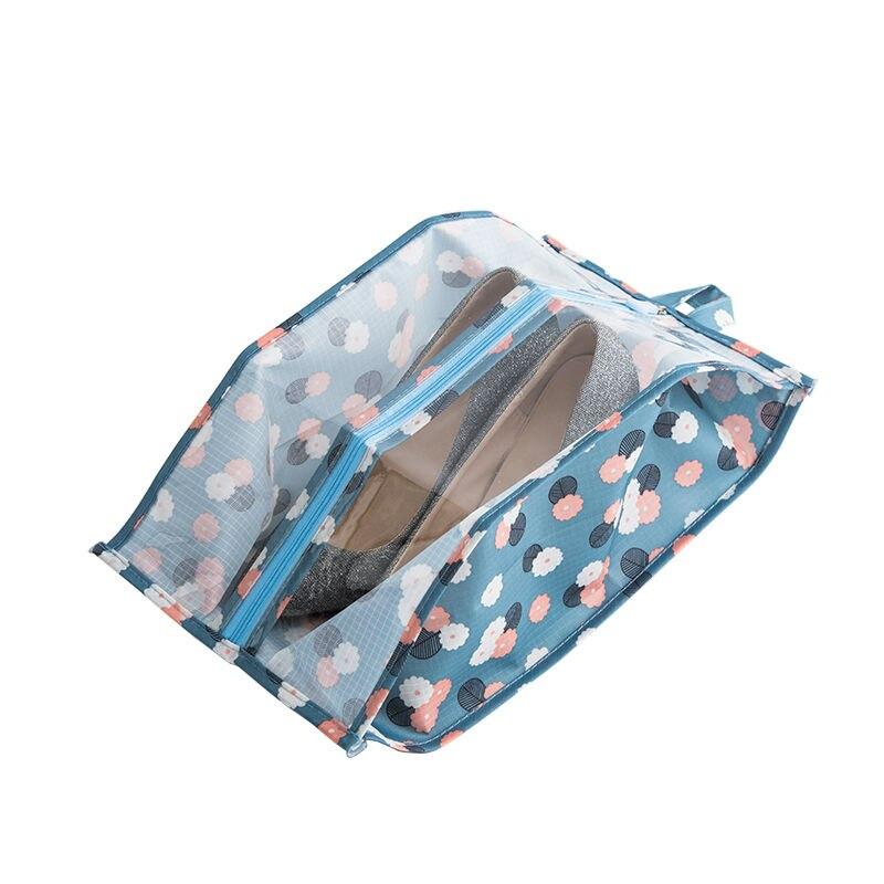Portable Transparent Travel Shoe Bag Lightweight Polyester Zipper Shoe Organizer Simple Waterproof Dust Proof Travel Accessories