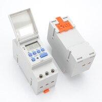 Цифровой ЖК Таймер переключатель Мощность Программируемый таймер реле времени AC 220 В/110 В DC 12 В 16A Temporizador din-рейку