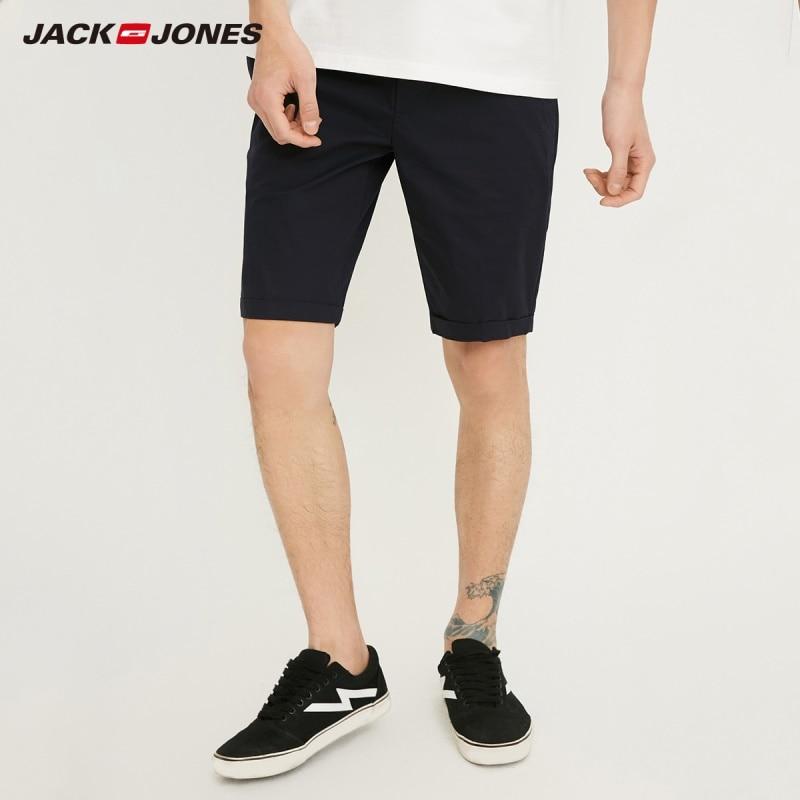 JackJones Men's Stretch Cotton Rolled Business-casual   Shorts   |218215508
