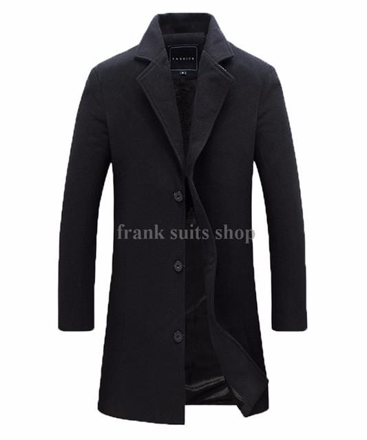 Custom made Casacos De Lã Primavera Outono inverno Da Marca dos homens Dos Homens de Lã Casacos de Médio Longo Jaquetas E Casacos Dos Homens Quentes casaco