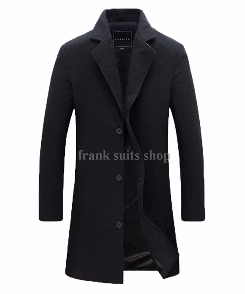 Custom made Men s Wool Jackets Spring Autumn winter Brand Men Woolen Coats Middle Long Jackets