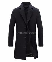 Nach maß männer Wolle Jacken Frühling Herbst winter Marke Männer Wollmäntel Mittel Lange Jacken Und Mäntel Herren Warme mantel
