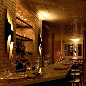 Image 5 - Lámpara de pared Vintage con forma de bambú, creativa, para Bar, comedor, dormitorio, mesita de noche, biselada, de metal