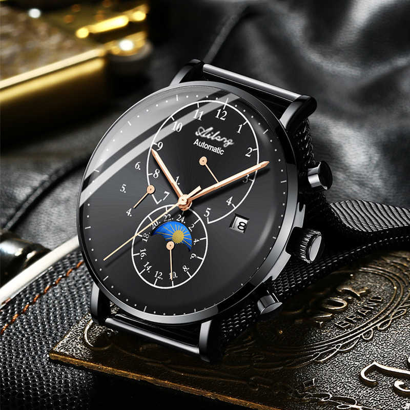 7f8a64817d7b ... AILANG Brand Men s Mechanical Watch Quality Automatic Minimalist  Waterproof Stainless Steel Diesel Watch Diver Simple Style ...